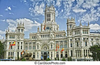 Plaza de Cibeles, Madrid, Spain - Plaza de Cibeles Cybeles...