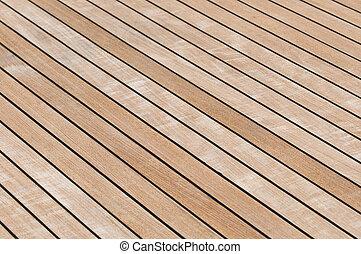 Teak deck - Yacht teak deck background