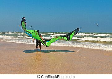 Kite surfer in Thailand