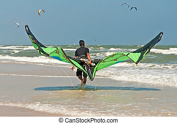 Kite surfer in Thailand
