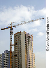 Construction - Construction of a high-altitude multi-storey...