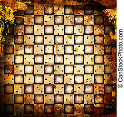 chessboard backgound - grunge chessboard backgound with...