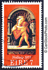 IRELAND - CIRCA 1975: a stamp printed in the Ireland shows...