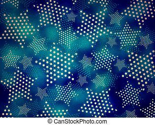 grunge  background with glowing stars