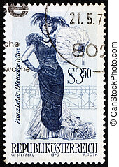 Postage stamp Austria 1970 The Merry Widow, Operetta -...