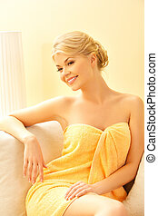 beautiful woman in spa salon - picture of beautiful woman in...