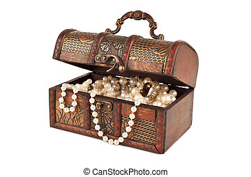 Age-old trunk with valuables