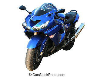 Motorcycle on a white background - The big beautiful dark...
