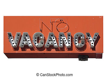 retro no vacancy neon sign - a retro neon sign in Reno...