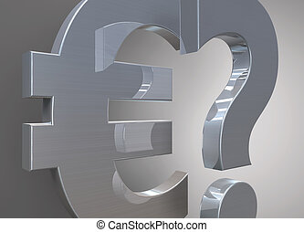 Euro currency symbol with question mark