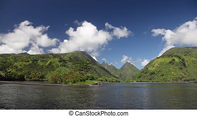 Mountains of Tahiti - View to Green Mountains of Tahiti...