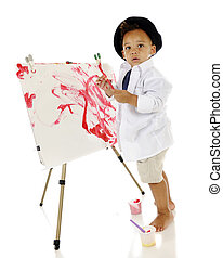 Its Modern Art - An adorable preschooler looking back at the...