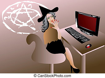 Witch of the computer
