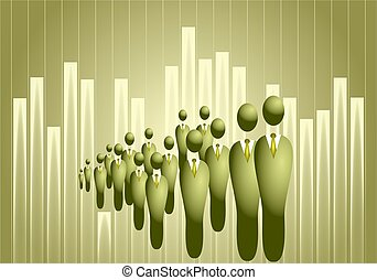 business crowd - abstract concept illustration showing a...