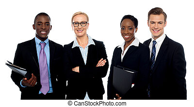 Group of business people over white background