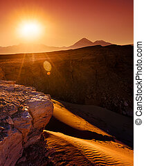 Atacama Burning - Sun rising in the Atacama Desert