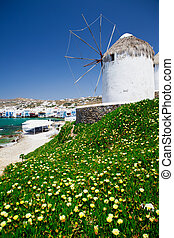 Historic Windmill - Windmill on the island of Mykonos