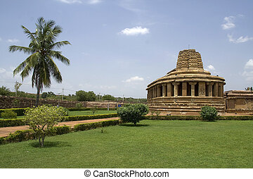 Durga Temple at Aihole - Durga Temple with Semi-circular...