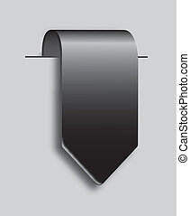 black tag - black blank tag over gray background. vector...