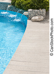 Swimming pool - Clean and nice swimming pool with fountains