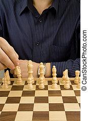 macho, mano, Mudanza, ajedrez