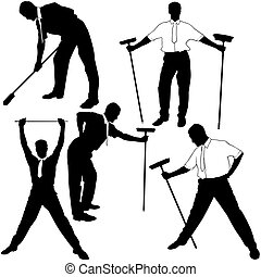 Business Cleaning Silhoue - Business Silhouettes 17 -...