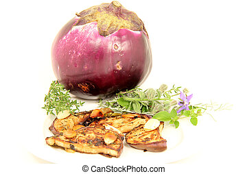 eggplants - roasted eggplants