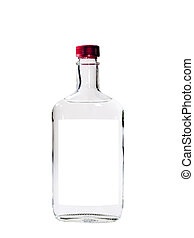 Vodka Isolated - A close up on a bottle of Vodka isolated on...