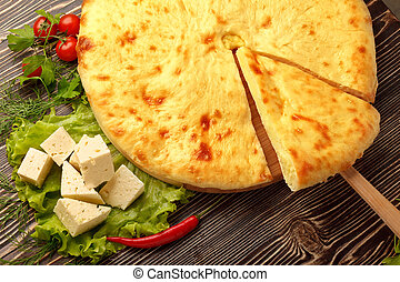 Ossetian Feta Cheese Pie. - Traditional Ossetian feta cheese...