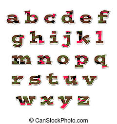 Camo Girl Lowercase Alphabet - lowercase alphabet