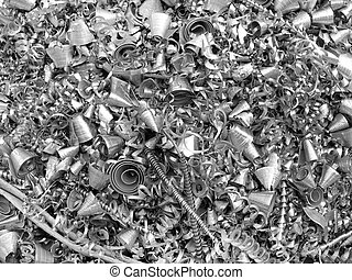 Metal chip shavings for background