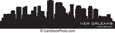 New Orleans, Louisiana skyline Detailed vector silhouette