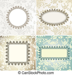 Set of vintage frames for seamless