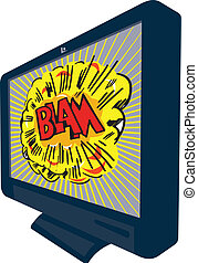 LCD Plasma TV Television Blam - Illustration of an LCD...