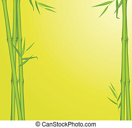 Green bamboo. Background for card