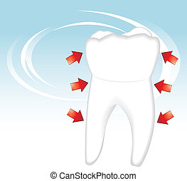 Healthy tooth. Dental concept. Vector illustration