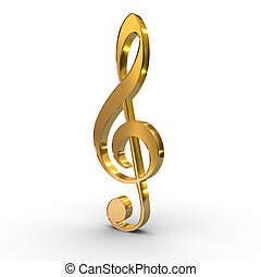 treble clef note key - a treble clef violin note key symbol...