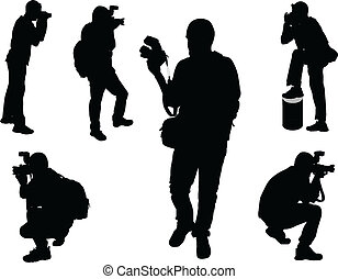 photographs - vector - illustration of photographers -...
