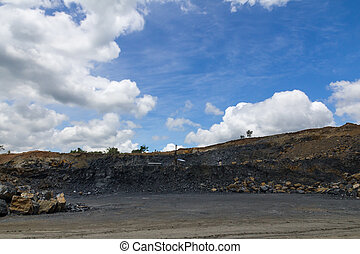 Site to mine the coal that is being drilled