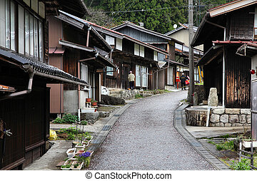 Magome, Japan - Japan - famous Nakasendo trail in Magome old...