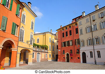 Modena, Italy - Emilia-Romagna region. Colorful...