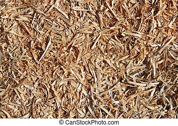 wooden chips closeup - wooden chips on the floor - closeup...
