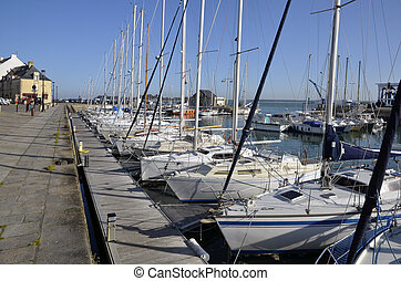 Port of Le Croisic in France - Port of Le Croisic in the...