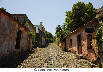 Qaint Cobblestone Paths - A small cobblestone road quietly...