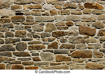 Natural Stone Wall Texture Background