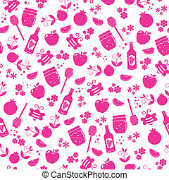 pattern for Rosh Hashanah - seamless pattern with symbols of...