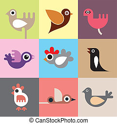 Birds vector wallpaper