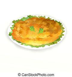 Thai Omelet - Thai-Style Omelette Traditional Thai omlette,...