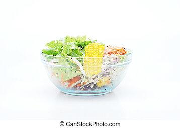salad on white background