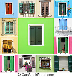window collage